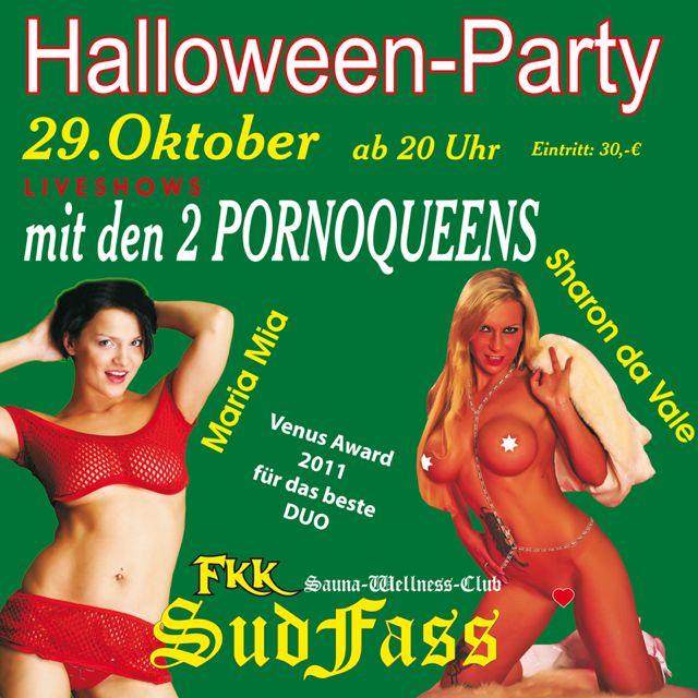 sexy Halloween Parzy mit mir und Maria Mia im FKK Sudfass am 29.10.11